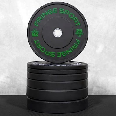 Fringe Sport's contrast bumper plates look great and are very high quality