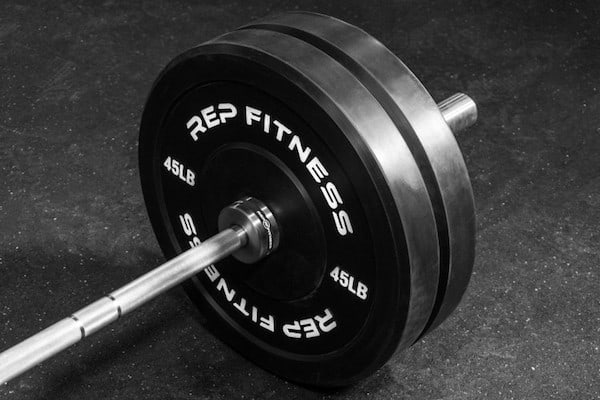 The Rep Fitness bumper plates are our top choice because they are great quality and cheap, making them top value