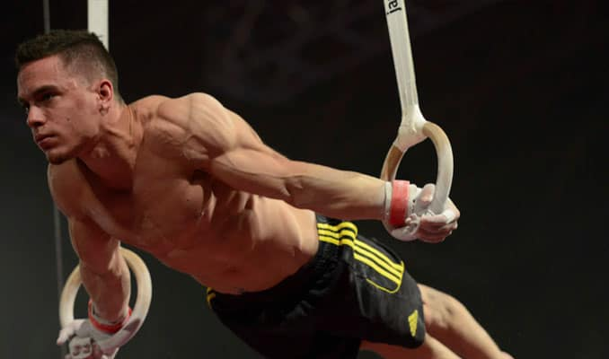Training with gymnastics rings is an extremely effective method of building strength and muscle