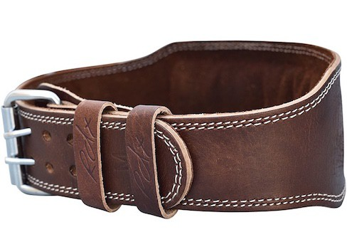 The RDX leather weightlifting belt has a very nice color