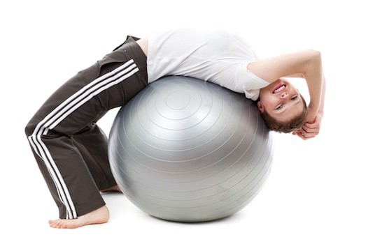Have fun and get fit with a stability ball
