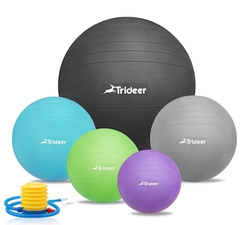 These stability balls from Trideer are beautiful to look at and very functional
