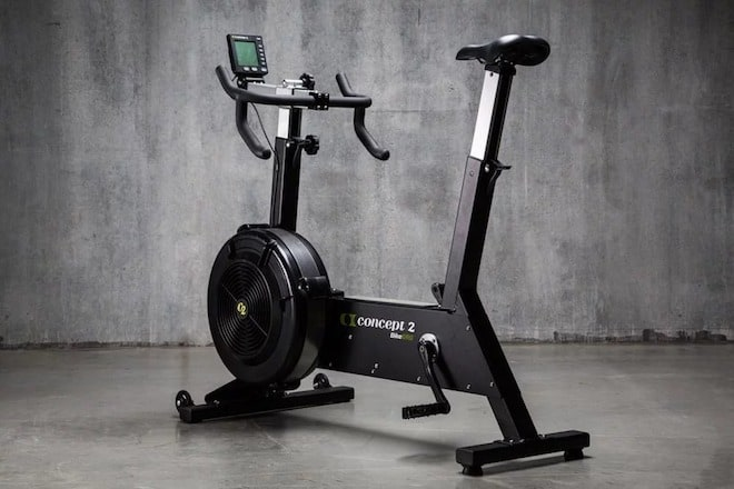 The bikeerg from concept2 is an amazingly good quality air bike