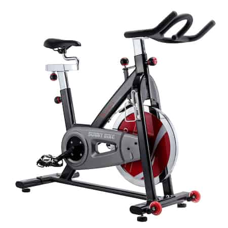 An indoor cycle bike is the design of the sunny health and fitness exercise bike
