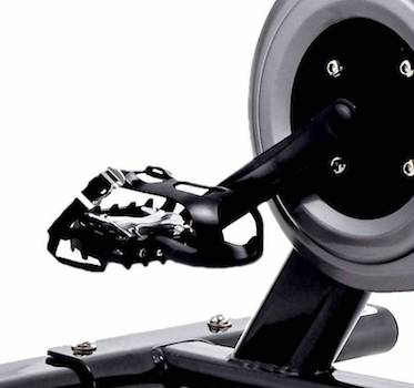 Enclosed pedals make the sunny health and fitness exercise bike nice and easy to ride