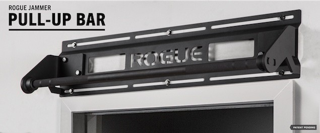 The Rogue Jammer pull up bar is intended to be mounted above a door frame. It's arguably the best pull up bar for home use, but it's expensive
