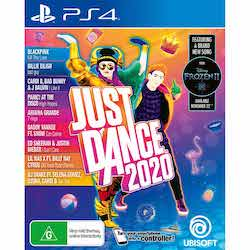 Video game cover for Just Dance 2020 exercise game for PS4