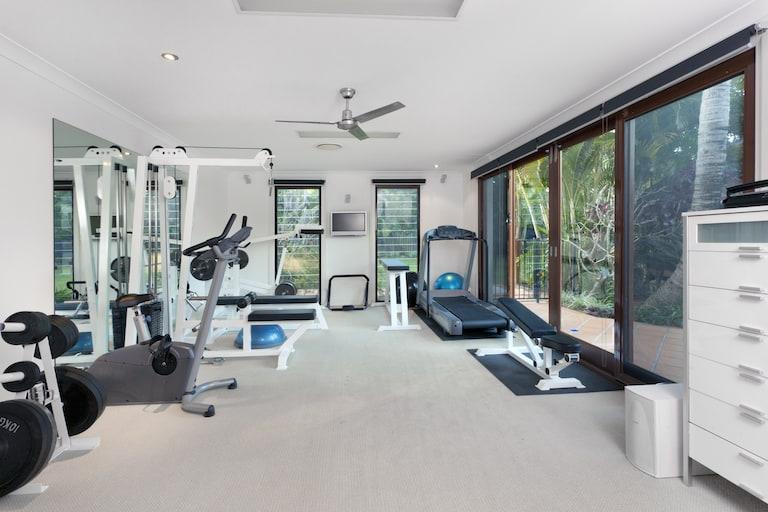 Room full of the best home gym equipment