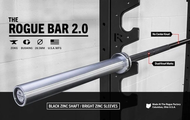 The Rogue bar 2.0 is undoubtedly one of the best barbells currently available