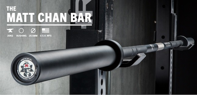 The Matt Chan bar embodies the spirit of the man himself and is one of the best all-purpose barbells you can get
