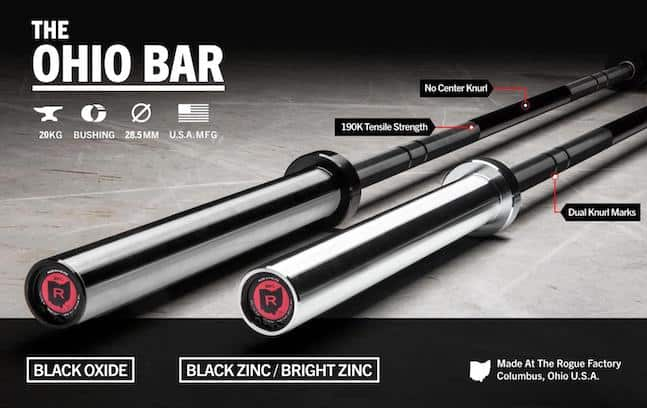 With it's new Custom Cerakote finish options, the ohio bar has ytaken back it's place as the best barbell money can buy