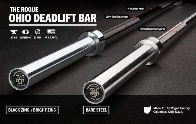 The Ohio Deadlift Bar is a powerlifting bar for the fanatatics. It's the best deadlifting barbell available