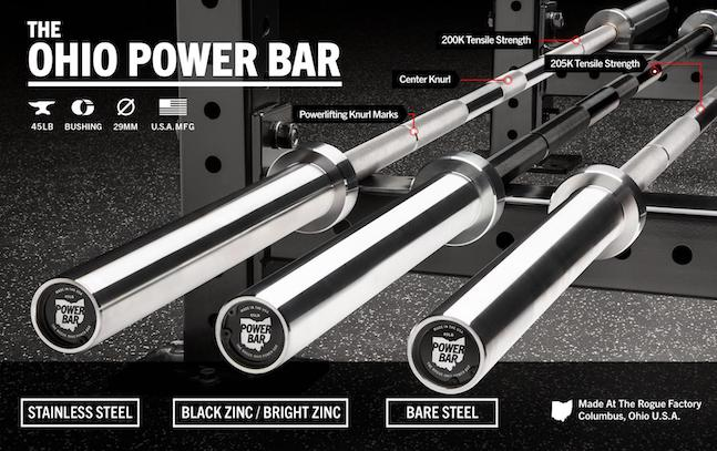 The Ohio Power bar is, quite simply, the best powerlifting bar on the market