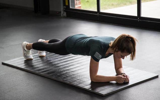 The Rogue Individual Mat is the nomad exerciser's dream - one of the best portable gym flooring options available