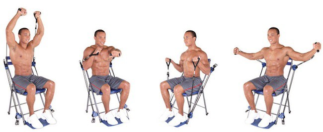 Build great strength and muscle with the chair gym