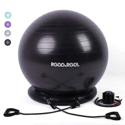 The RGGD & RGGL Yoga Ball Chair os a different take on the resistance chair idea