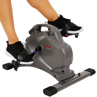 Sunny Health & Fitness' mini exercise bike is a small and portable unit