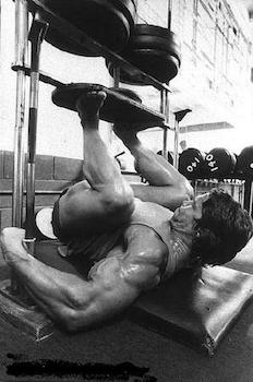 Arnold loved the vertical leg press
