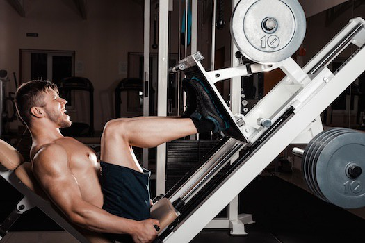 Horizontal or seated leg press machines remove some of the effect of gravity
