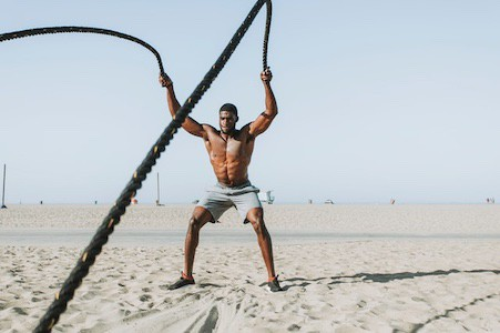 Battle ropes are an emerging trend in the world of conditioning equipment
