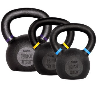 Onnit's regular kettlebells are just as good as their custom kettlebells for providing high quality upper body workouts