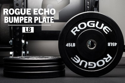 Rogue's black echo bumpers are the best quality bumper plates you can get for your home gym