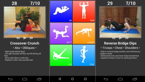 These daily workouts screenshots show this to be a very decent fitness app