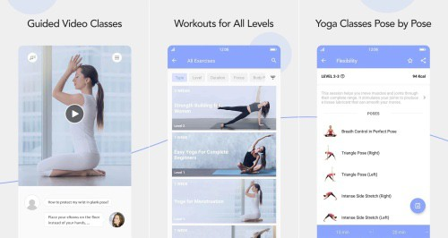The daily yoga app is perfect for the home yogi and is one of the best fitness apps on the market
