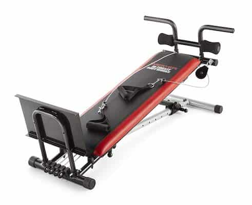 Weider compact home gym in red and black