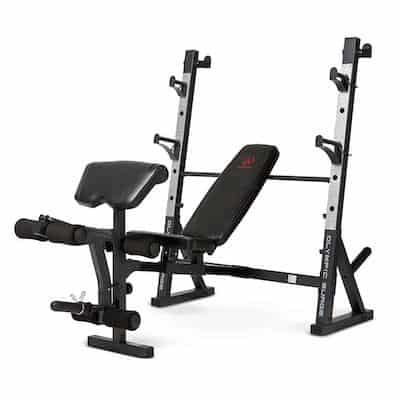 Marcy's Olympic Weight Bench is a step up from the competitor bench and is another good option for versatile olympic weight bench