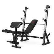 Marcy's more advanced olympic weight bench is a good versatile option that won't break the bank or your neck