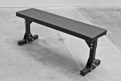 Simple but effective, Rogue's bolt-together flat utility bench requires some assembly, but it's top of the line and the best flat weight bench you can get for your garage gym