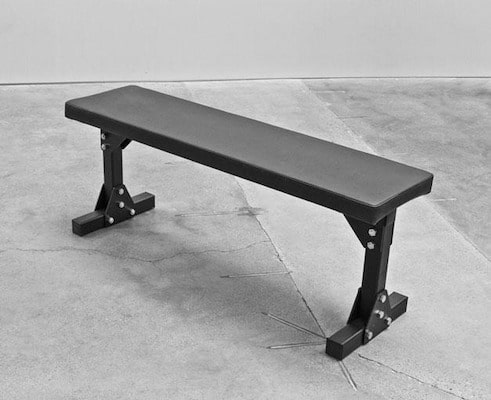 Rogue's Bolt Together utility bench is the best flat bench you can find