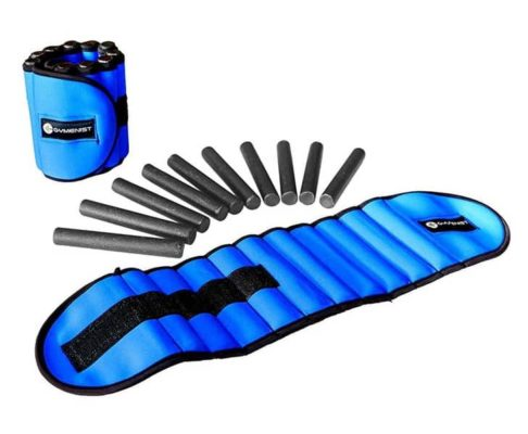 Blue gymenist adjustable ankle weights
