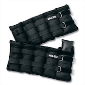 Pair of black Valeo adjustable ankle weights