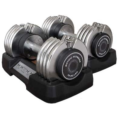 Bayou Fitness make some great quick-lock dumbbells that are cheaper than the competition
