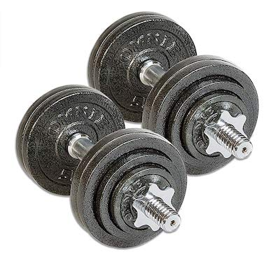 TELK's adjustable cast iron dumbbells look great and have a great price point. They're definitley some of the best affordable dumbbells currently available