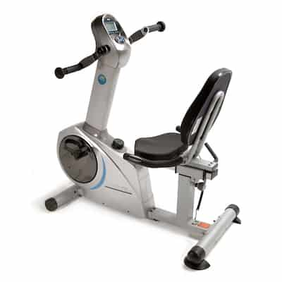 Stamina's elite recumbent bike with moving arms is perfect for people who want something with a bit extra