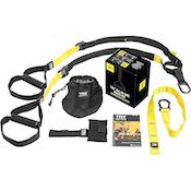 TRX all-in-one suspension trainer with workout guide and carry case
