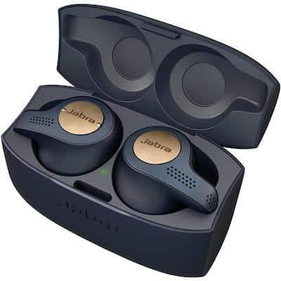 Jabra workout headphones in their case