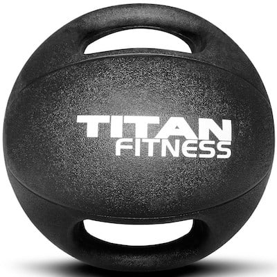 Titan Fitness also make a great rubber medicine ball with dual grips