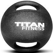 Thes dual grip medicine balls from Titan Fitness are another great rubber option