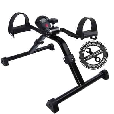 Vaun medical's folding pedal exerciser isn't intended for heavy fitness-based use. It's a great mini exercise bike for rehab