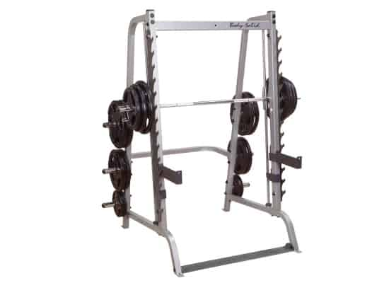 Grey body-solid series 7 smith machine with weights