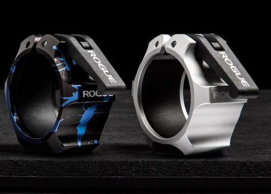 Rogue's USA Aluminum collars are some of the best olympic barbell collars you can get