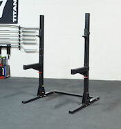 Titan Fitness' X-3 squat stands are up there with the best budget squat racks available