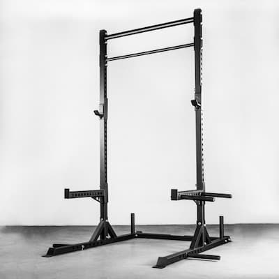 Rep Fitness SR-4000 squat rack with multiple attachments