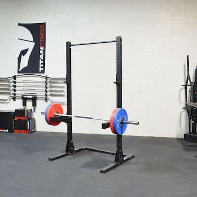 Titan Fitness have made a good replica of the SML squat racks - great options for squat racks for your home gym