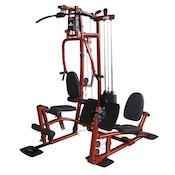 The EXM1 from Fitness Factory is a great lower cost home gym with leg press station