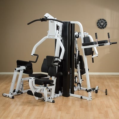 The exm3000lps from body-solid is the best home gym with leg press station on the market
